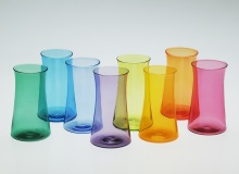 Tall Curve Tumblers - Emerald, Turquoise, Cobalt, Hyacinth, Lime, Saffron, Orange, Ruby